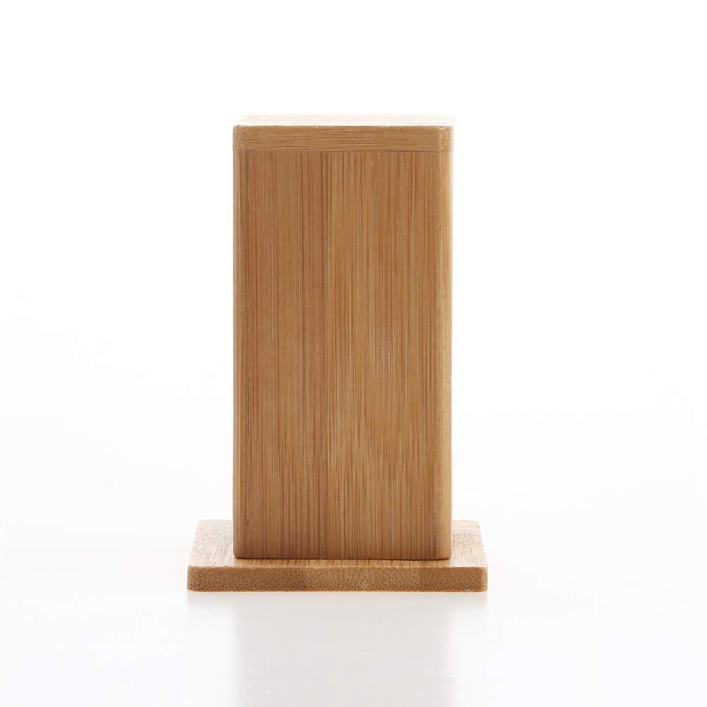 Fliyeong Einfache und sch/öne Bambus zahnstocher Box stilvolle Kaffee Restaurant Hotel zahnstocher Glas