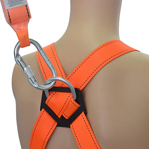 KSEIBI 421024 Full Body Fall Protection Light Weight Safety Harness w D-Ring and Chest Pass Thru Buckles (LIGHT-PRO) by KSEIBI (Image #2)