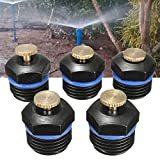Promisy 30Pcs Garden Sprinkler Head Drip Emitters Spray Nozzle Greenhouse Automatic Sprinkler Adapter, Water Flow Drip Irrigation System for flower beds, vegetable gardens, herbs gardens