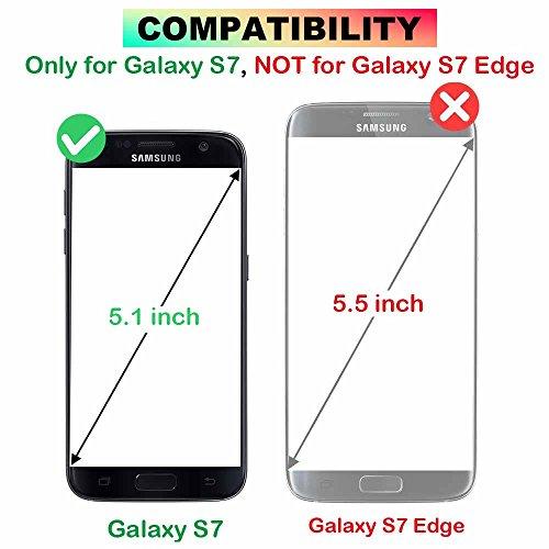 Funda Galaxy S7 Edge [Gratis Protector de Pantalla], CSM Cuero de la PU Estilo de Página Ranura para Tarjeta Incorporada [5 Tarjetas] Mariposa de Rose Grabada en Relieve con [Desmontable Magnético] [P Púrpura