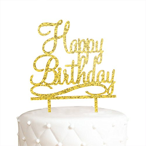 A Series Of Happy Birthday Acrylic Cake Topper - Various Birthday Cake Supplies Decorations (627)