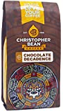 Christopher Bean Coffee Flavored Decaffeinated Ground Coffee, Chocolate Decadence, 12 Ounce