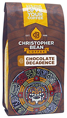 Christopher Bean Coffee Flavored Whole Bean Coffee, Chocolate Decadence, 12 Ounce (Chocolate Coffee Beans Whole compare prices)