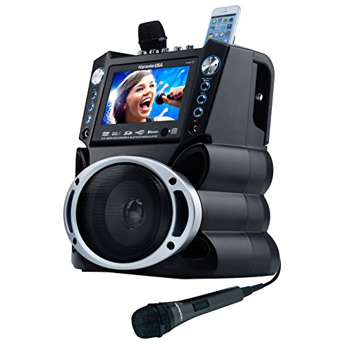 Karaoke USA GF840 Portable System, Black