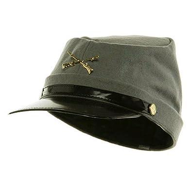 a0e37a8ee9d Amazon.com  HJ Confederate Hat Soldier Federal Army Kepi Wool Civil War  Costume 56cm  Clothing