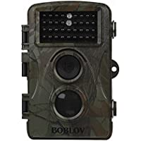 Boblov CT007 H9 1080P HD 12MP 940nm Infrared 34pcs IR LED Night Vision Hunting Scouting Trail Camera Game Wildlife PIR Motion Detect +2 in 1 Lightning SD Reader Cable For Andriod&Iphone+8GB Card