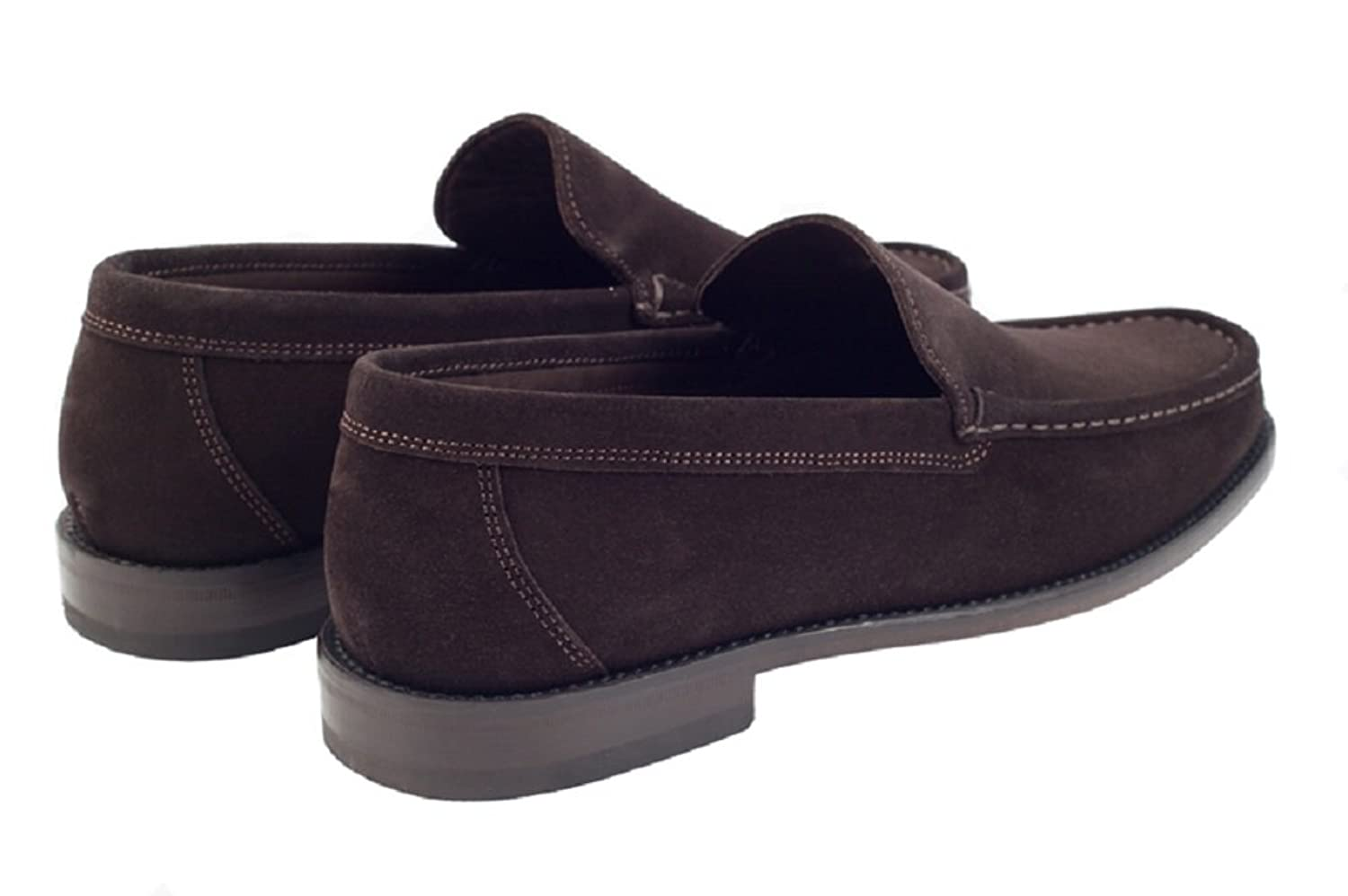 John White Men's Riva 2 Classic Moccasin Shoes In Black and Brown Leather  Suede.: Amazon.co.uk: Shoes & Bags