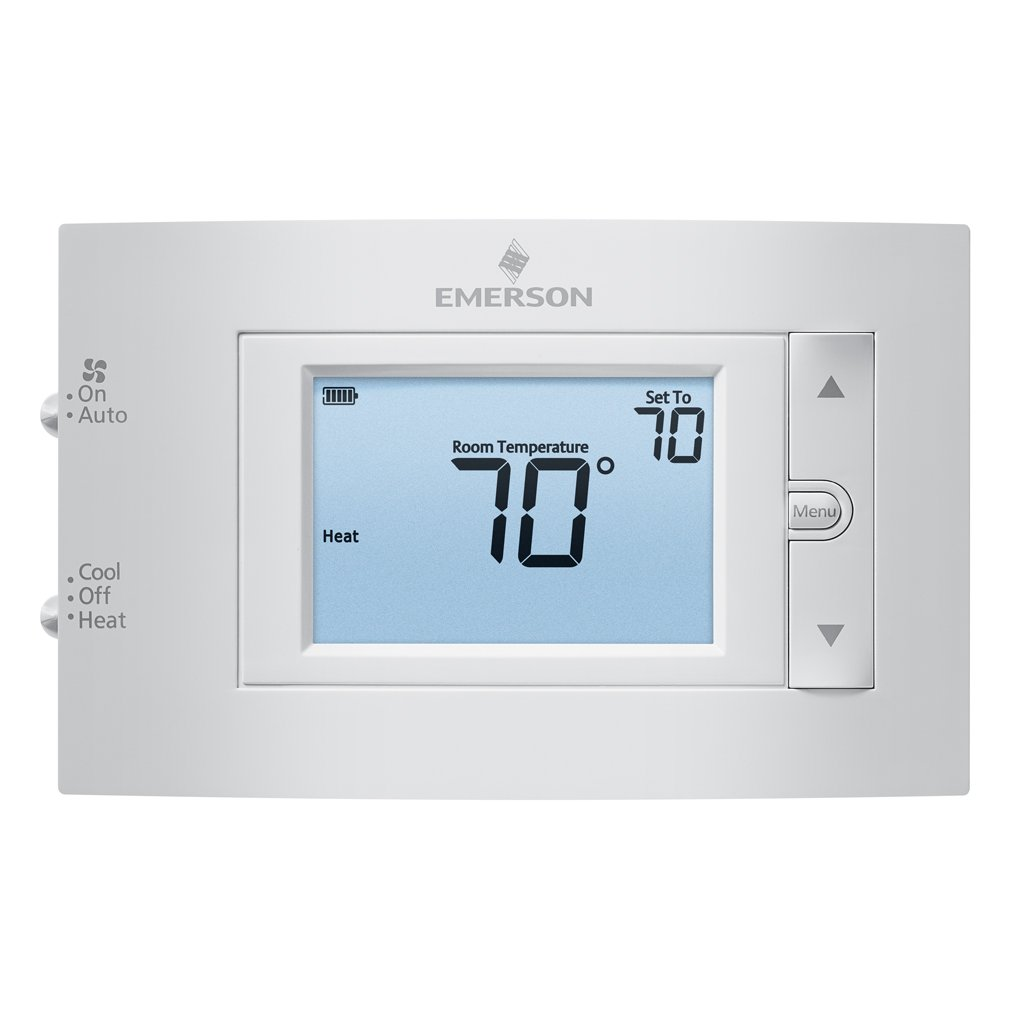 Emerson 1F83C-11NP Conventional (1H/1C) Non-Programmable Thermostat - -  Amazon.com