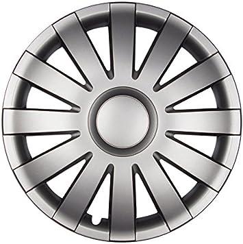 Premium Radkappen Radzierblenden Radblenden Modell Agat 4er Set Farbe Graphit Grau Felgendurchmesser 15 Zoll Auto