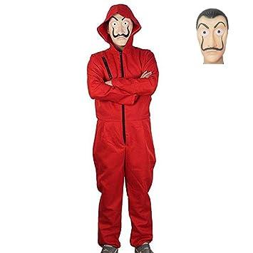 La Casa De Papel Cosplay Disfraz Overol Rojo con máscara Dali ...