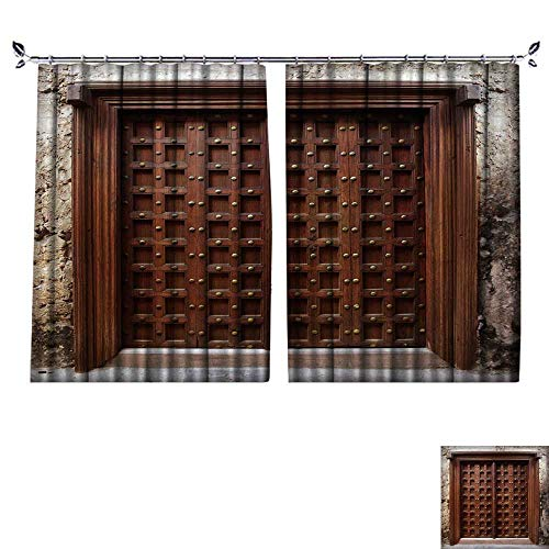 PRUNUS Shading Pure Color Modern Minimalist Style Antique Indian Style Wooden Door Furniture Material W120 x ()