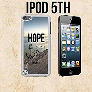 Hope Anchors The Soul Hebrews Custom made Case/Cover/skin FOR Apple iPod 5/5th Generation -White- Plastic Snap On Case ( Ship From CA)
