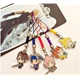 Final Fantasy Anime Characters metal charm 5 pc set