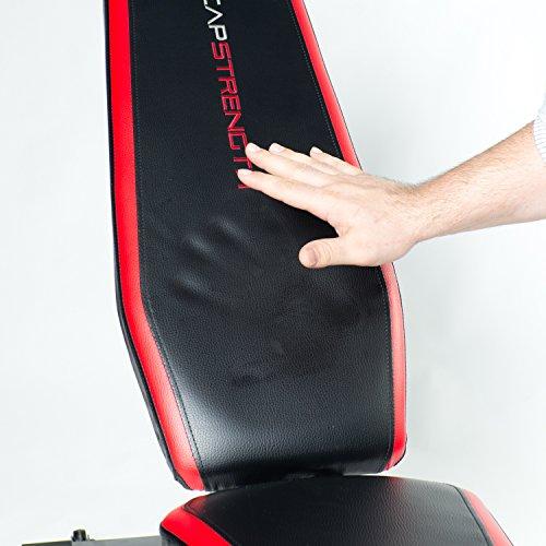 CAP Barbell Memory Foam FID Training Bench, Black/Red