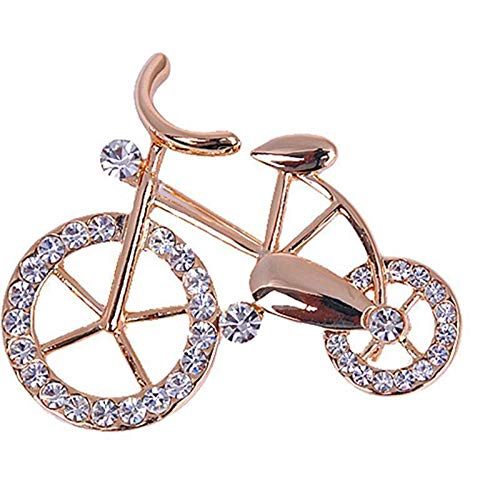 Trendy Fancy Elegance Gold Rhinestone Bike Shape Twinkle Brooch Pins Jewelry ()