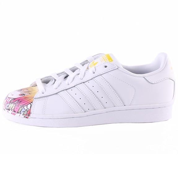 adidas Superstar Pharrell Supershell - Zapatillas para Hombre, Color Blanco/Amarillo, Talla 44 2/3: Amazon.es: Zapatos y complementos
