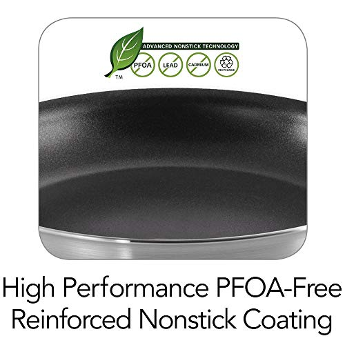 Tramontina 80114/535DS Professional Aluminum Nonstick Restaurant Fry Pan, 10'', NSF-Certified, Made in USA by Tramontina (Image #2)