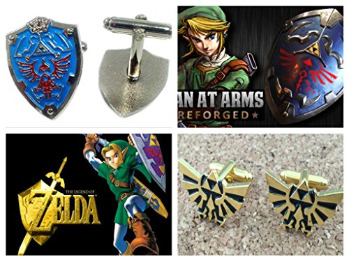 The Legend Of Zelda Triforce Heroes Costumes (The Legend of Zelda Triforce and Shield Logo (2-Set) Cufflinks By Athena)