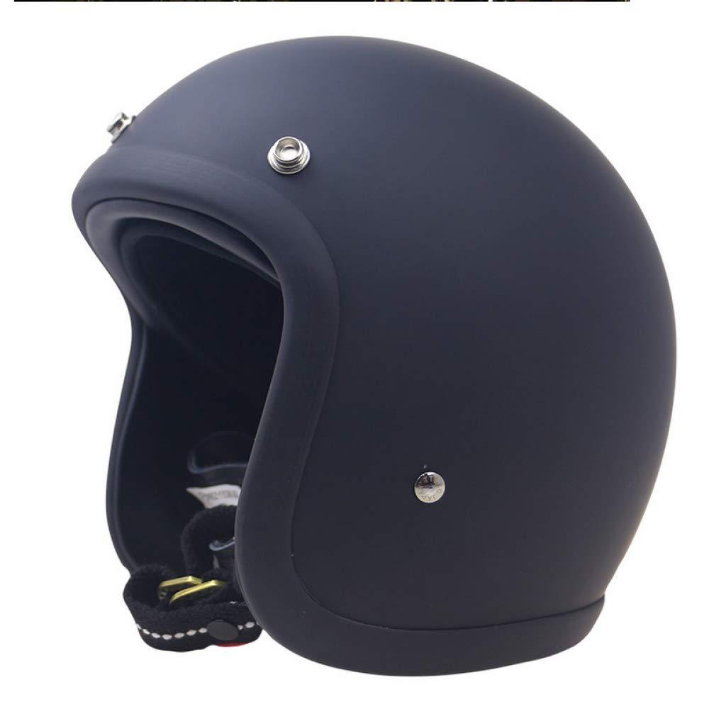 ビンテージヘルメット-ジェットヘルメット-スクーターヘルメット-500-TXセパレートバイザー成人男性女性,A-M A Medium