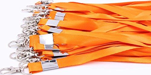 Neck Lanyards for Id Badges - LeBeila Id Badge Lanyard Bulk Order 30pcs Nylon Neck Strap for Badges, ID Holder & Cards (30pcs, Orange) ()