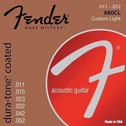 Fender 073-0880-003 Cuerdas de guitarra acústica Dura-Tone 880CL.