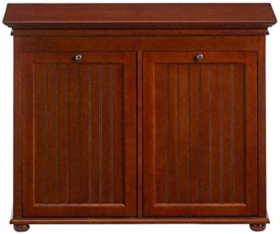 Hampton Bay Double Tilt out Beadboard Hamper