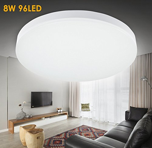 S&G LED 12.99-Inch Flush Mount Ceiling Light 15W 1050-1200lm 5000k(Cool White) LED Recessed Ceiling Lights Fitting for Living Room Bathroom Bedroom and Dining Room Review