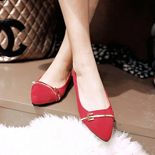 Show Shine Womens Fashion No Heel Loafer Flats Shoes Peach z8ZWd8