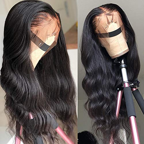 360 Lace Frontal Wigs with Pre Plucked Baby Hair 18inch Human Hair Wig for Black Women Body Wave Human Hair Wigs 150% Density (Synthetic Whole Lace Wig)