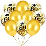 Inkach- Confetti Balloons, 10pcs 12'' Latex Party Balloons for Baby Shower Birthday Decor (H)