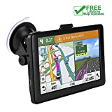 Car GPS Navigation, 7-inch High-Definition Display 256MB-8GB Real Voice Broadcast Route Top oading