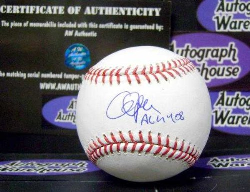 Cliff Lee autographed baseball (Indians Phillies 2008 Cy Young Award 4x All Star) inscribed AL CY 08 MLB Authentication Hologram AW Certificate