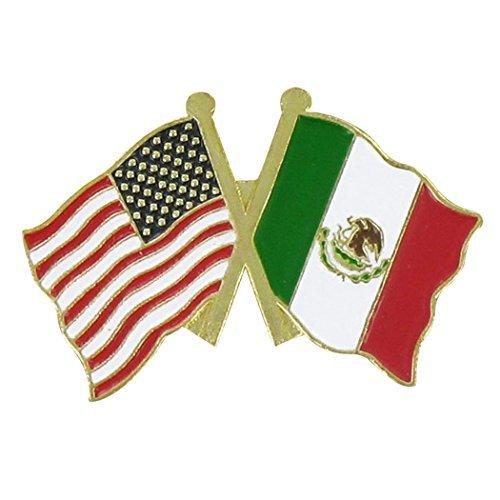 USA and Mexico Double Lapel Pin