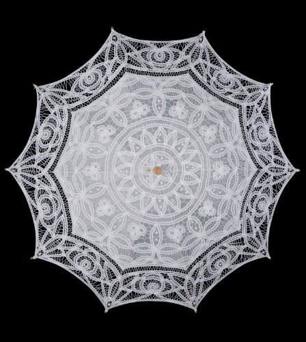 The 1 For U Women's Victorian Lace Parasol Ivory/Cream by The 1 for U (Image #3)