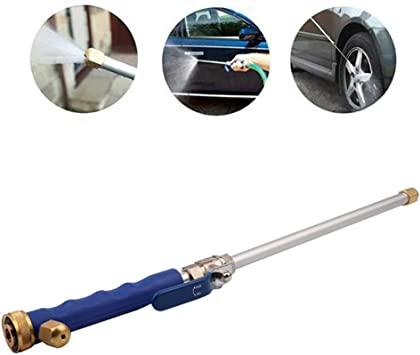 Kicode High Pressure Power Washer Water Hose Wand Spray Nozzle Sprayer Great for Car and High Outdoor Window Washing