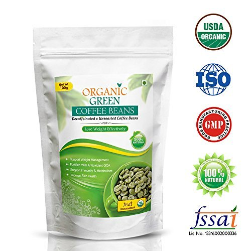 Vokin Biotech Organic Green Coffee Beans For Weight Management 100Gm (Pack Of 1)
