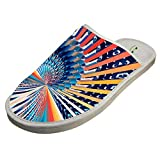 Slippers with Colorful Fractal Trippy Original Indoor Sandals Unisex Shoes Flat Winter Sleeppers 15 B(M) US