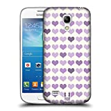 Head Case Designs Violet Fancy Hearts Protective Snap-on Hard Back Case Cover for Samsung Galaxy S4 mini I9190 Duos I9192