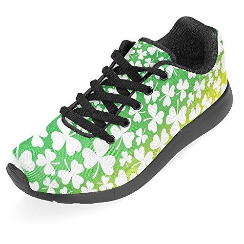 Interestprint Kvinna Jogging Kör Sneaker Lättvikts Gå Gång Casual Komfort Sports Löparskor Vita Shamrocks Om Rainbow Prisma Multi 1