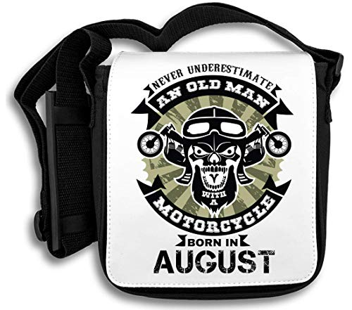 August Motorcycle Borsa Tracolla Underestimate Never Man In A An With Old Born Pg7zvq