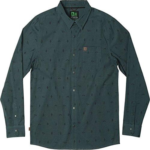 (Hippy Tree Token Woven Long-Sleeve Shirt - Men's Slate, L)