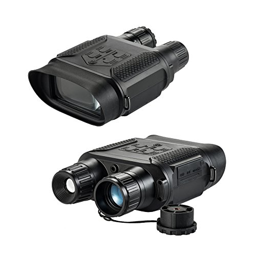 Pinty 7 x 31 Night Vision Binoculars Digital Infrared Night Vision Scope, 640 x 480@30FPS, Photo Camera & Camcorder w/ 400m/1300ft Viewing Distance, 7X Magnification in The Darkness, 4″ Large Viewing