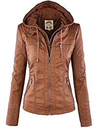 Amazon.com: Brown - Leather & Faux Leather / Coats, Jackets ...