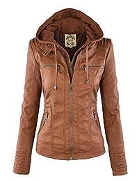 MBJ Womens Removable Hoodie Motorcyle Jacket