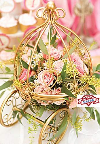 Nayab Gold Cinderella S Pumpkin Carriage Table Centerpiece