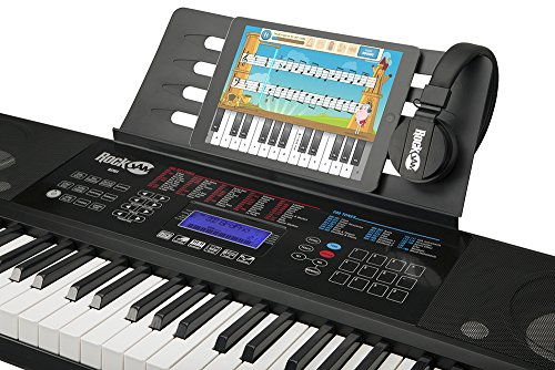 RockJam RJ761-SK Key Electronic Interactive Teaching Piano Keyboard with Stand, Stool, Sustain pedal & Headphones - Image 4