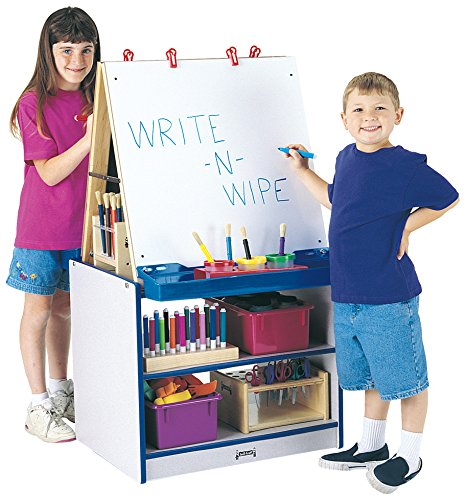 2 Station Art Easel (Rainbow Accents 0289JCWW003 2 Station Art Center, Blue)