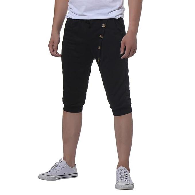 Sannysis Hombres Deporte Gimnasio Aptitud Trotar Pantalones de ...