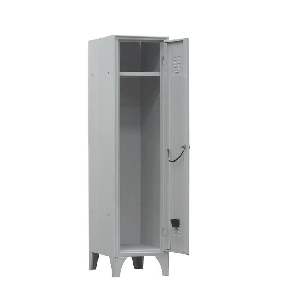 Armadio spogliatoio in metallo, 1 vano, Mis. 350 L x 500 P x 1800 H mm, serratura a cilindro con chiave PACK SERVICES SRL