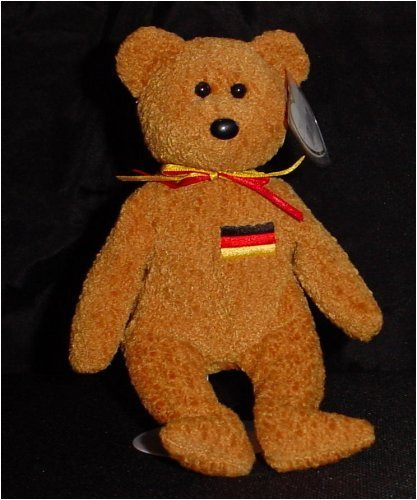 TY Beanie Baby - GERMANIA the Bear (German Exclusive)1st Version w/English writing on back of tag
